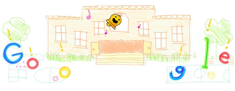 Google Doodle - Singapore First Day of school