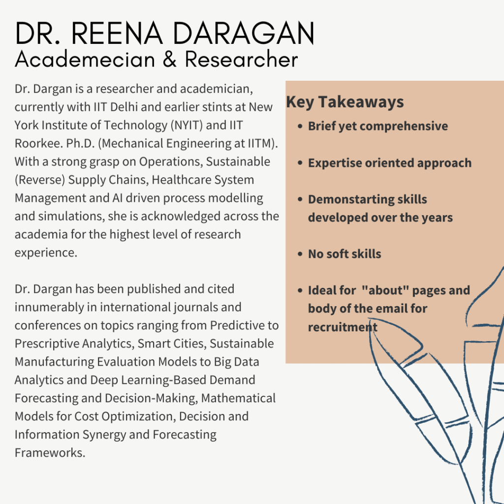 Academician and Researcher Bio - GetSetResumes