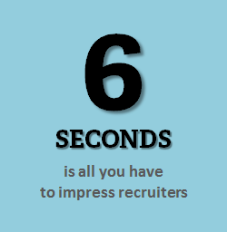 6 seconds to impress recruiters - getsetResumes.com
