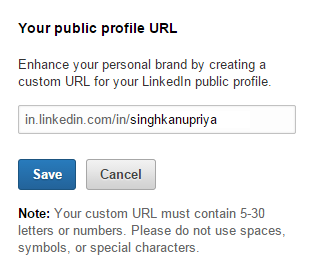 How to Write LinkedIn - Finishing Touch - URL