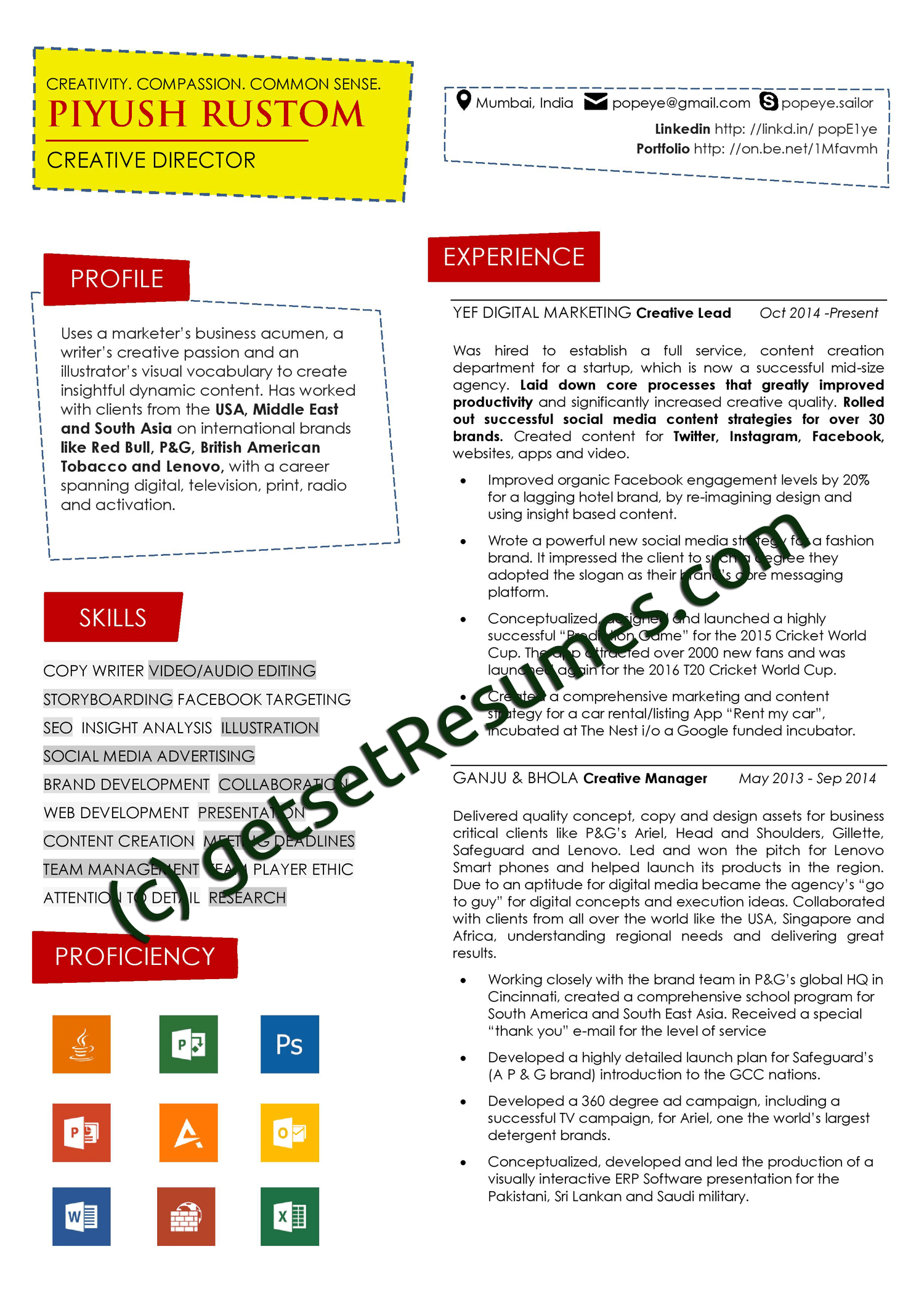 resume samples case studies