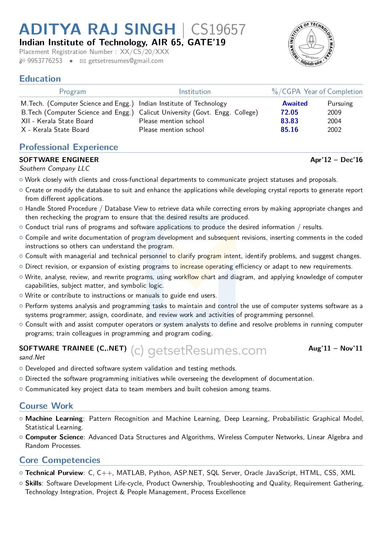 Latex Resume by Get Set Resumes. We are one of the few firms that can prepare a Latex Resume for you.