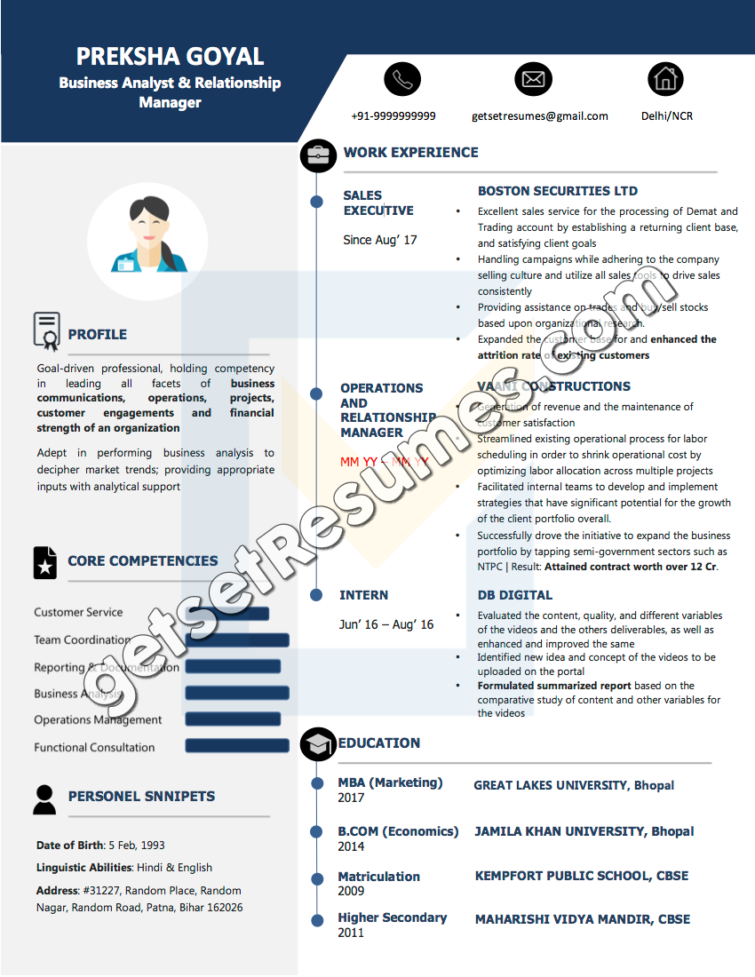 resume samples  u0026 case studies